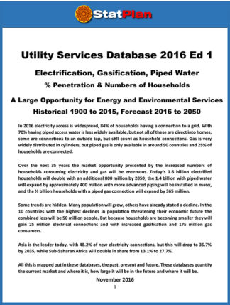 Utility Services Database 2016 Ed1