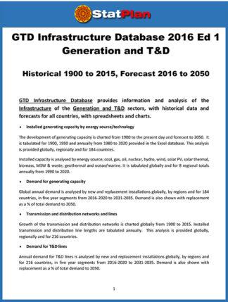 GTD Infrastructure Database 2016 Ed1