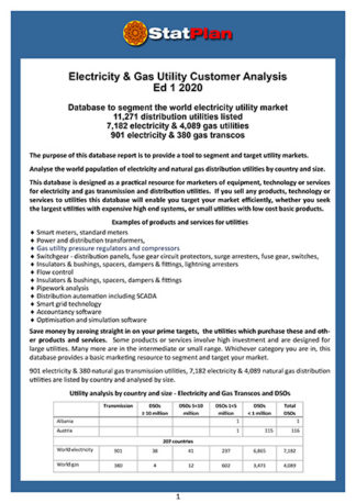 Electricity & Gas Utility Customer Analysis Ed 1 2020