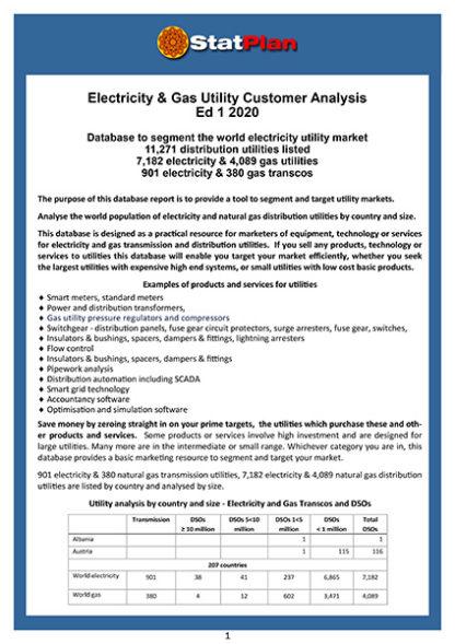 Electricity & Gas Utility Customer Analysis Ed 1 2020