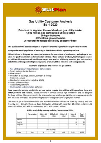 Gas Utility Customer Analysis Ed 1 2020