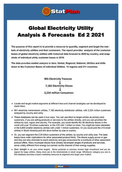 Global Electricity Utility Analysis & Forecasts Ed 2 2021